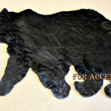 Plush Soft FAUX FUR FABRIC Black Bear Skin Rug  Fake Bearskin Teddy Bear Faux Taxidermy Toss Rug Fake Skin Hide Pelt Rug New