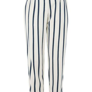 Stripe Mensy Peg Leg Trousers - New In Fashion - New In