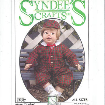 Syndee's Crafts 24007 Pattern for Eton Charlee Doll & Clothes, From 1991, 3 Sizes Doll, Vintage Pattern, Doll Making, Home Crafts, French