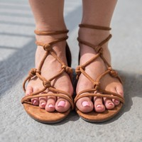 Casual Charm Tan Sandals