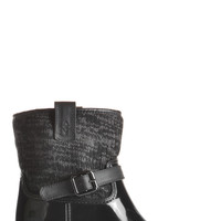 Black Shelton Knit Rainboot