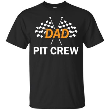 Dad Pit Crew Hosting Car Race Birthday Party T-Shirt