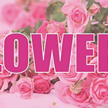 Flowers Full Color Vinyl Banner. Ready To Use