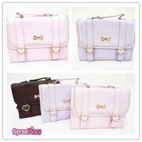 3 Colors Shiny Ribbon Triple-purpose PU Backpack SP130291
