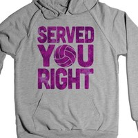 Served You Right (Hoodie)-Unisex Heather Grey Hoodie