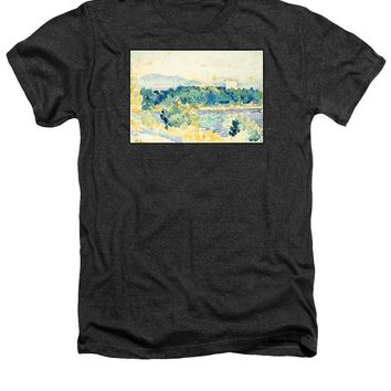 Mediterranean Landscape With A White House - Heathers T-Shirt