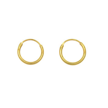 Small Gold Hoop Earrings, Dainty Gold Earrings, 10mm Silver Hoops, Cartilage Hoops , Minimalist Jewelry