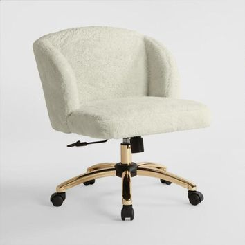 Cream Lucy Upholstered Office Chair