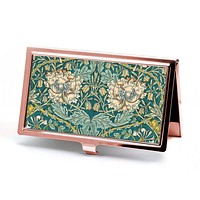 Honeysuckle Business Card Case in Rose Gold