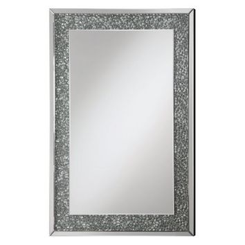 Coaster Furniture Pebble Framed Wall Mirror - 31.5W x 35H in. - Mirrors at Hayneedle