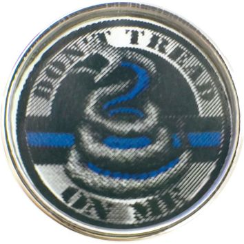 Thin Blue Line Don't Tread On Me Support your Officer 18MM - 20MM Snap Charm New Item