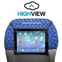 HighView iPad hanger for iPad mini- hangs anywhere (car headrest, airplane seat, stroller, kitchen, gym, train, bus) and gives clean water to children in need. Tablet travel accessory gadget case mount hold holder kids children parents traveler