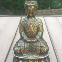 Antique Bronze Statue Meditation Buddha