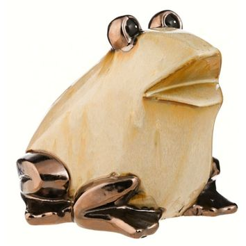 SheilaShrubs.com: Metallic Shimmer Frog Portly Statuary 845133 by Evergreen Enterprises: Garden Sculptures & Statues