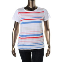 Levi's Womens Heathered Striped Pullover Top