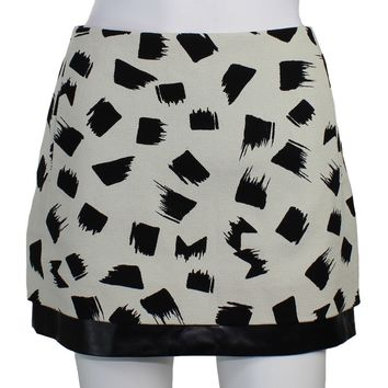 Elley Mini Print Canvas Skirt