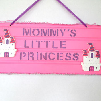 Princess sign, nursery decor, little girl bedroom, girl bedroom decor, baby shower gift, girl baby shower decor, baby girl, princess decor