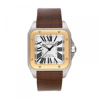 ¥Cartier¥ Santos 100 XL Mens Two Tone Watch Complete Set W20072X7