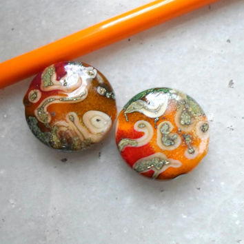 Lampwork Beads, Handmade Glass Beads, Spring Fashion Colorful Handmade Jewelry Supplies for Handmade Lampwork Jewelry