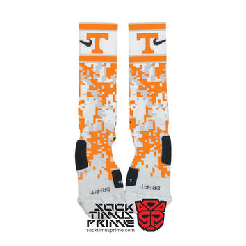 Custom Nike Elite Socks -  Tennessee Custom Nike Elites - Tennessee Socks, Custom Elites, Tennessee Football, Tennessee Volunteers