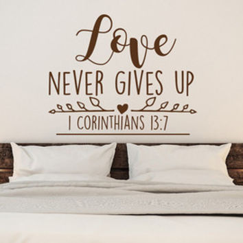 Never Will I Leave You Never Will I Forsake You Hebrews 13:5 Christian Wall Decal Bedroom Decor- Scripture Decal- Bible Verse Wall Decal #85