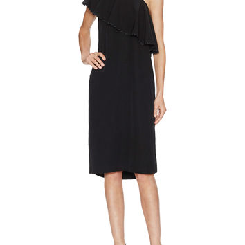 Rodebjer Women's Wep Shoulder Ruffle Dress - Black -