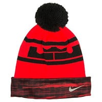Nike Youth's Lebron Icon Red/Black Beanie Hat size 8/20