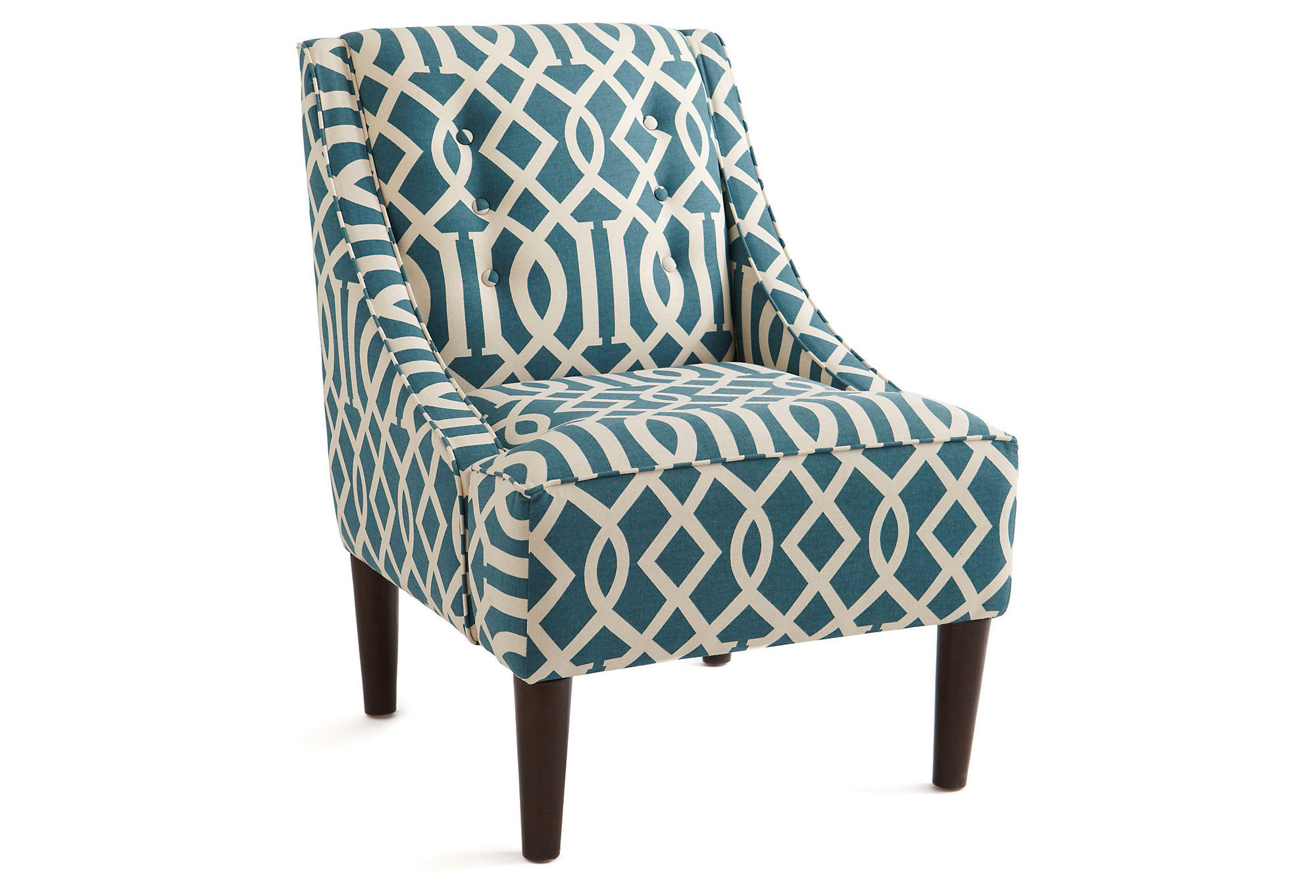 Mccarthy swoop arm chair teal accent from one kings lane
