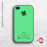 iRish - Four Leaf Clover - St Patricks Day Apple Parody - iPhone 4 Case, iPhone 4s Case and iPhone 5 case