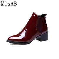 2016 new women boots heels autumn winter boots high quality fashion women snow boots ankle Chelsea boot ALF242