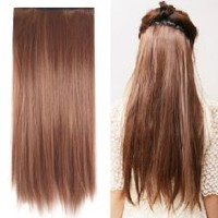 "MapofBeauty 23"" Long Straight Clip in Hair Extensions Hairpieces"