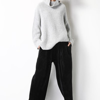 Oversized Slouchy High Neck Effortless Sweater TP0360