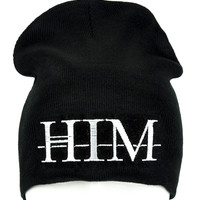 HIM Doom Metal Beanie Occult Clothing Knit Cap