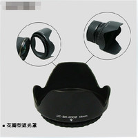 Hot Universal Digital Camera black Flower shape Lens Hood for Canon 450d 550 500d 600d 700d 18-55 Screw Spiral 58 mm