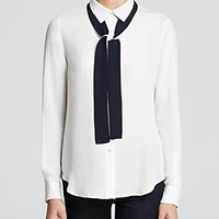 Theory Blouse - Emmanuelle Neck Tie