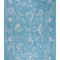 Dynamic Rugs Avalon Turquoise/Silver Distressed Rectangle Area Rug