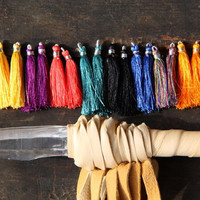 Wild Child / Silk Tassels from India / Neon Bright Jewelry Making Tassels or Craft Supplies / Boho Tassels / 2""