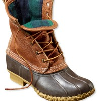 Tumbled-Leather L.L.Bean Boots, Women's Flannel-Lined 8""