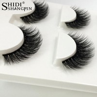 3 Pairs natural false eyelashes thick makeup real 3d mink lashes soft eyelash extension fake eye lashes long mink eyelashes 3d