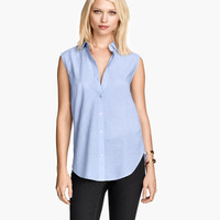 Sleeveless Cotton Blouse - from H&M