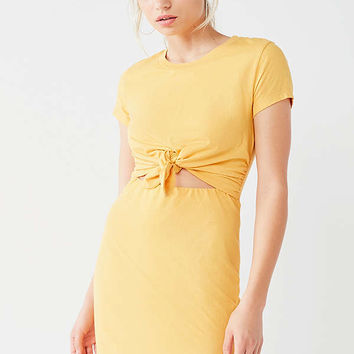 UO Tie-Front T-Shirt Dress | Urban Outfitters