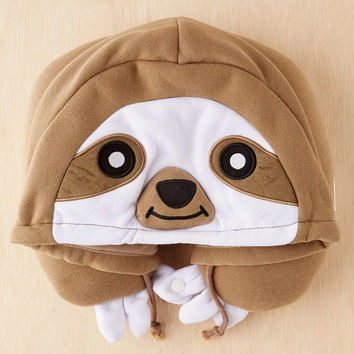 Sloth Hood Neck Pillow - Urban Outfitters