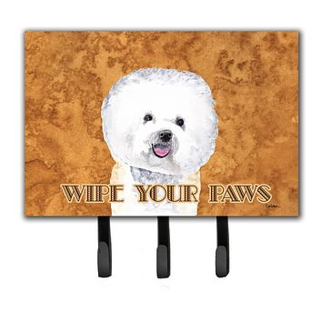 Bichon Frise Wipe your Paws Leash or Key Holder