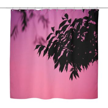 Tree At Dust Shower Curtain
