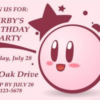 Kirby Personalized Party Invitation - Printable | gli628 - Gift Giving on ArtFire