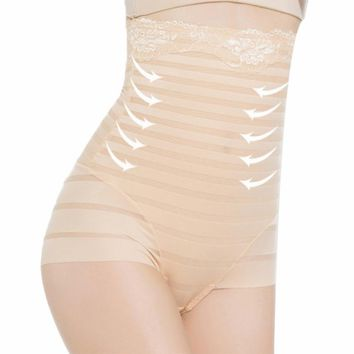 Seamless High Waist Shapewear Underwear Women Abdomen Body Shaper Tummy Control Panties