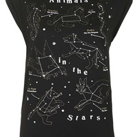 Animals In The Stars Tee by Tee & Cake - Topshop