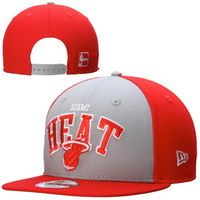 Miami Heat New Era 9FIFTY Arch'd Logo Snap Back Hat – Red