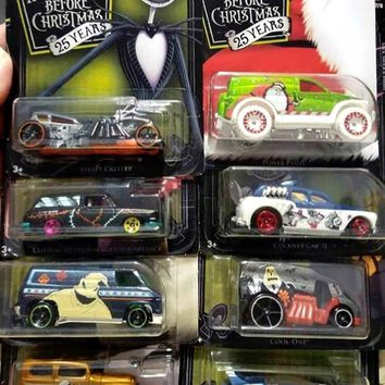 New 2018 Hot Wheels The Nightmare before Christmas 8 Car Set Disney Tim Burton Kroger Exclusive Full Set NBC