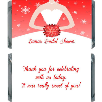 Winter Themed Bridal Shower Chocolate Favors